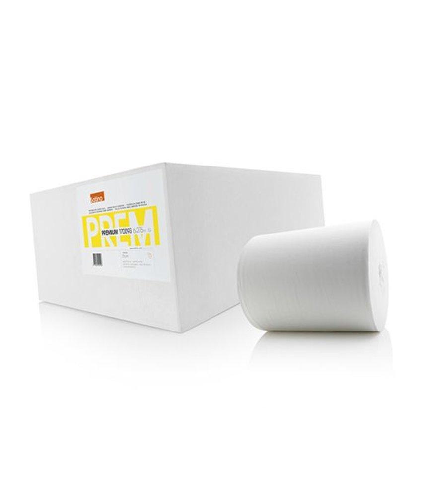 Satino Poetsrol zonder huls 1-lgs. tissue wit, 21cm.