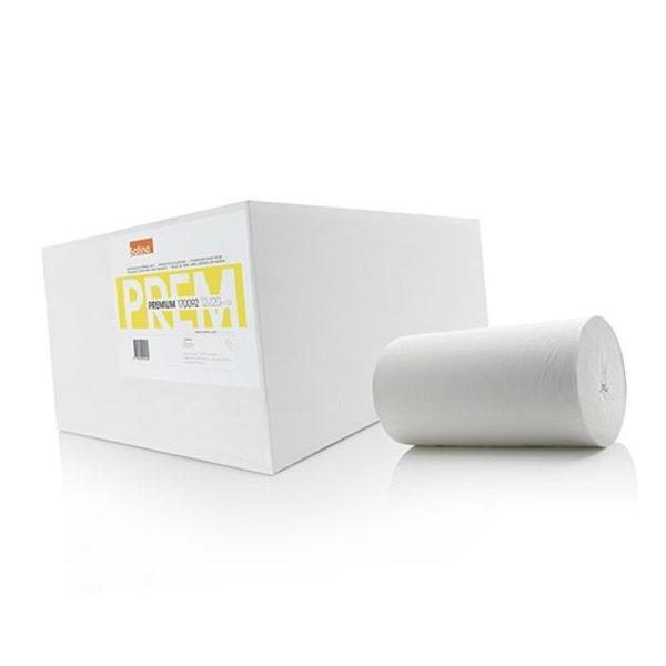 Satino Premium Poetsrol zonder huls 1-laags, Cellulose, 120 meter, 22 cm, 12 rollen
