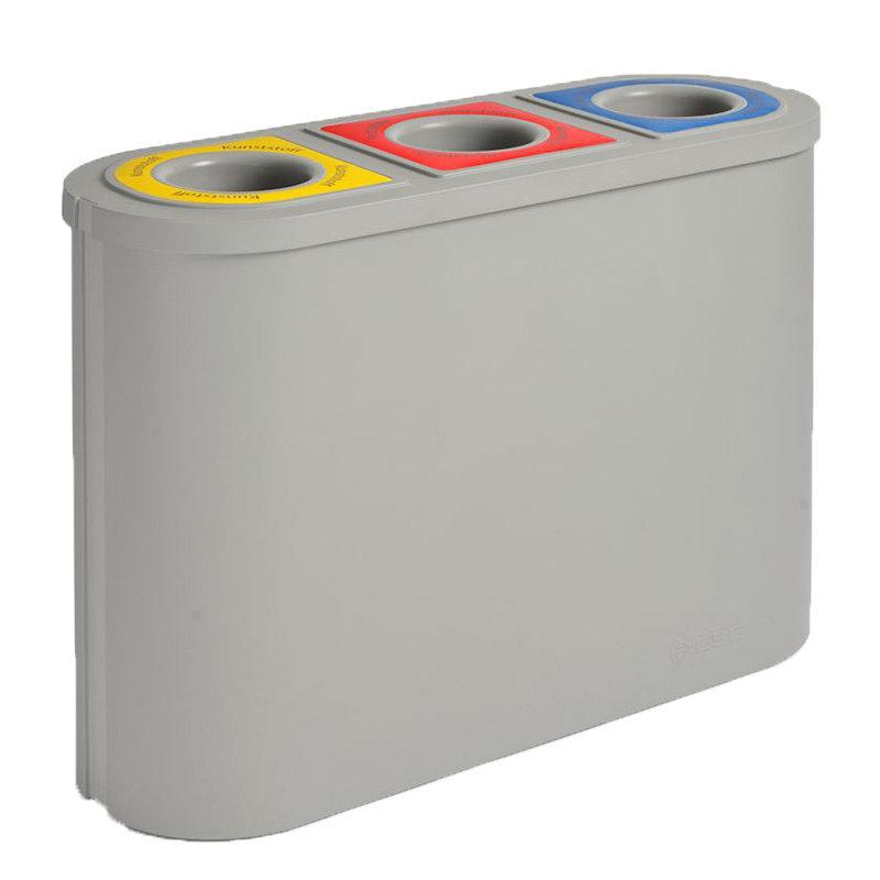 Afvalbak Triomf, Grijs, 3x45L