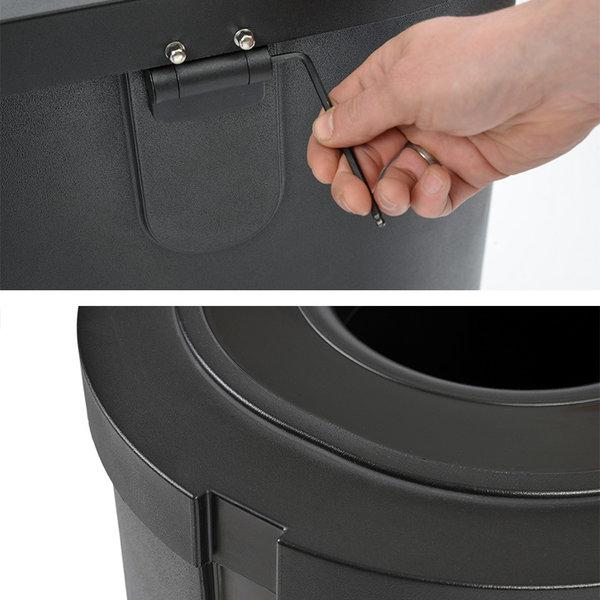 Afvalscheidingsbak Triomf, Zwart, 3x45L