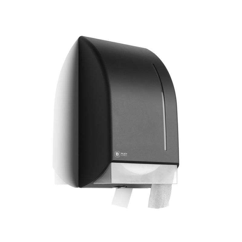 Satino Black Jumbo Toiletrol dispenser