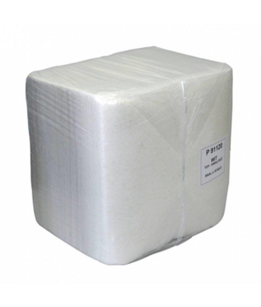 Wegwerpdoek non-woven wit 10kg. baal