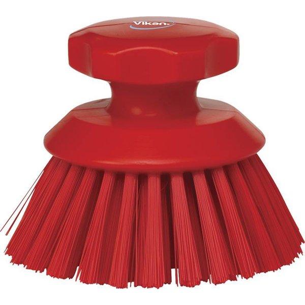 Vikan  ronde werkborstel, hard, rood