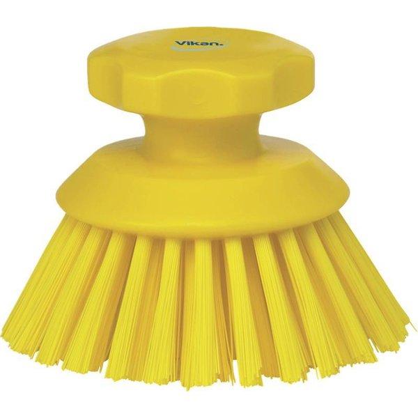 Vikan  ronde werkborstel, hard, geel