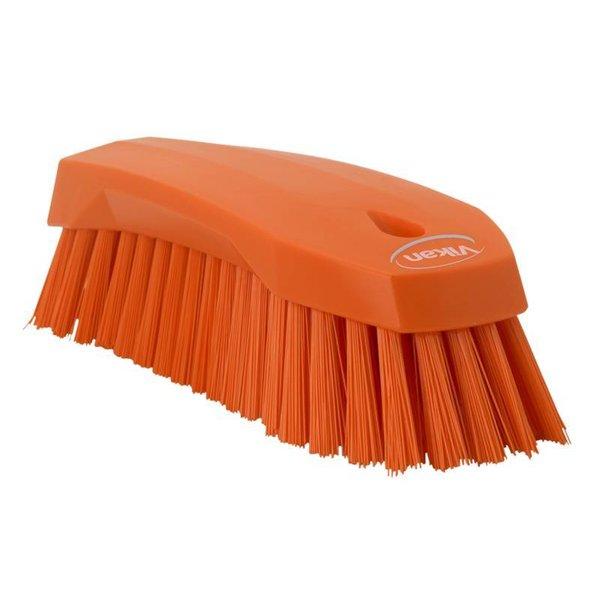 Vikan  grote werkborstel, hard, oranje