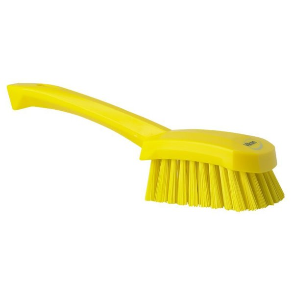 Vikan  afwasborstel met korte steel, hard, geel