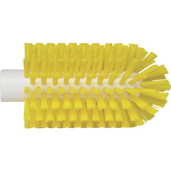 Vikan pijpborstel, steelmodel, medium, geel, ⌀ 77 mm