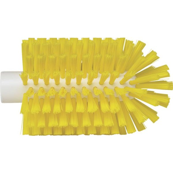 Vikan pijpborstel, steelmodel, medium, geel, ⌀ 90 mm