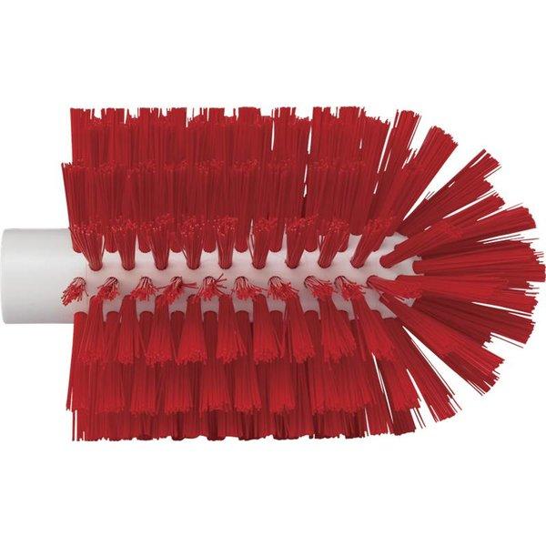 Vikan pijpborstel, steelmodel, medium, rood, ⌀ 103 mm