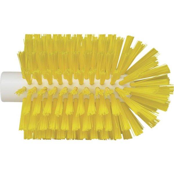 Vikan pijpborstel, steelmodel, medium, geel, ⌀ 103 mm