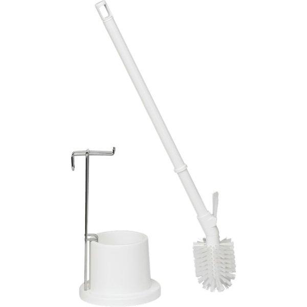 Vikan toiletborstel met houder, wit