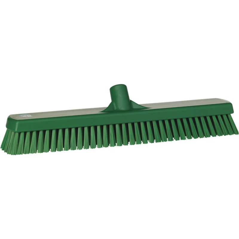 Vikan brede vloerschrobber, hard, groen