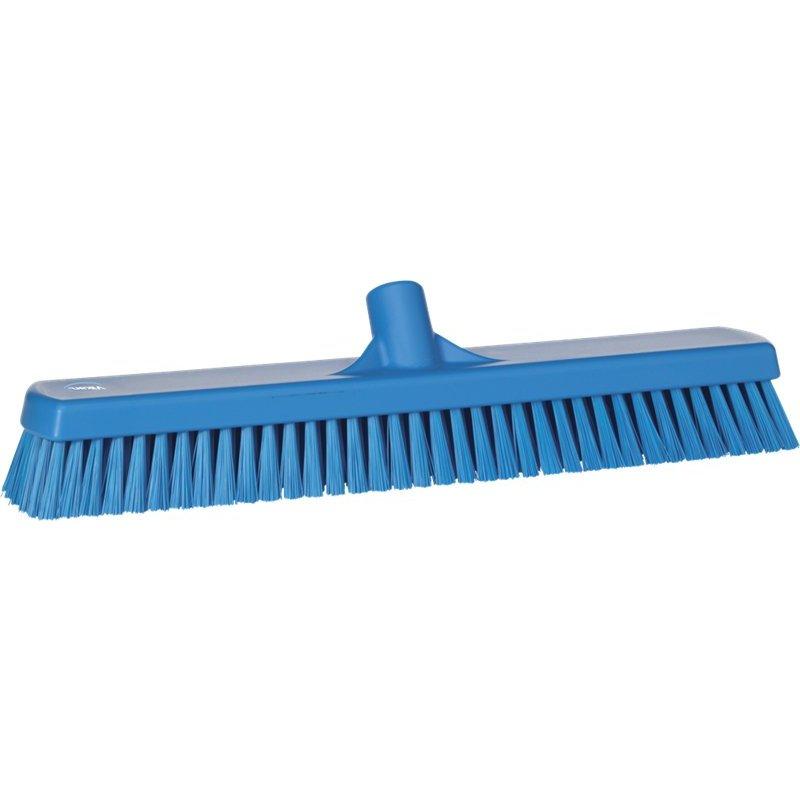 Vikan brede vloerschrobber, hard, blauw