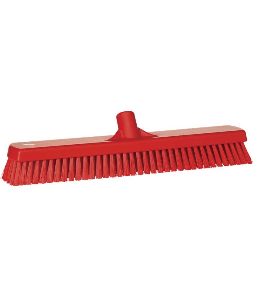 Vikan brede vloerschrobber, hard, rood