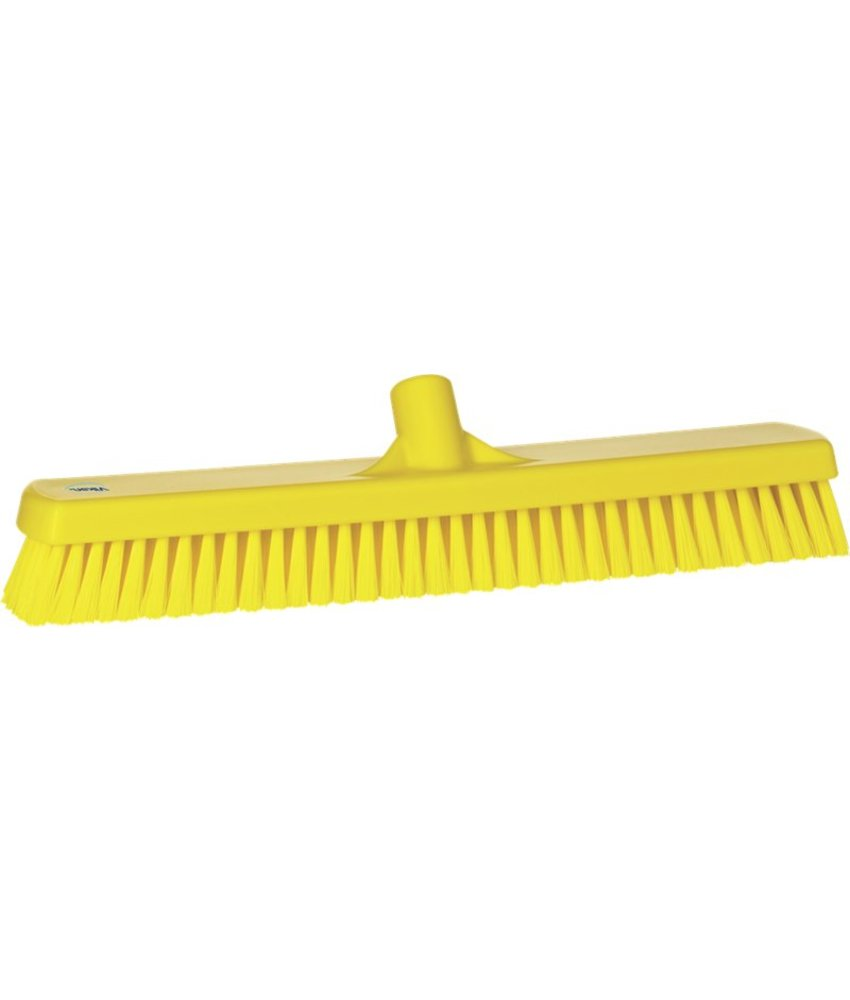 Vikan brede vloerschrobber, hard, geel