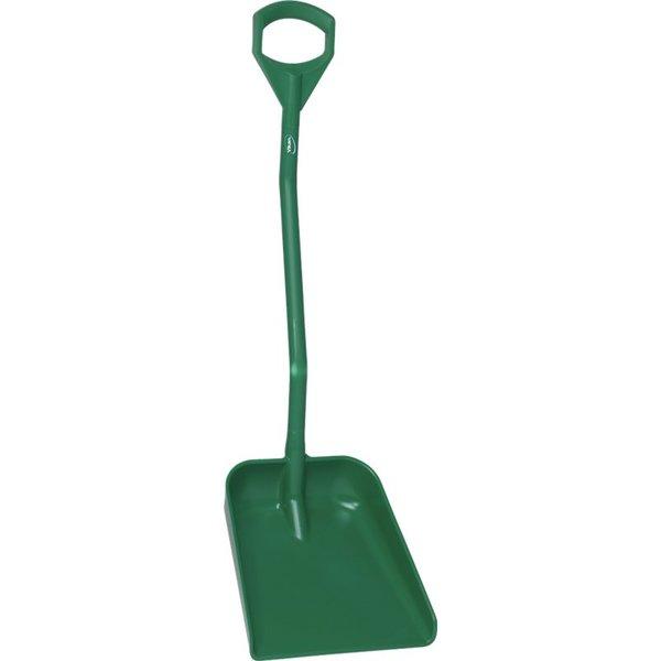 Vikan  ergonomische schop met groot blad, steel 1140 mm, groen,