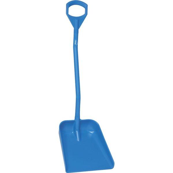 Vikan  ergonomische schop met groot blad, steel 1140 mm, blauw,