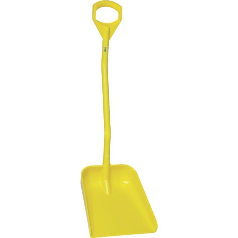 Vikan ergonomische schop met groot blad, steel 1140 mm, geel,