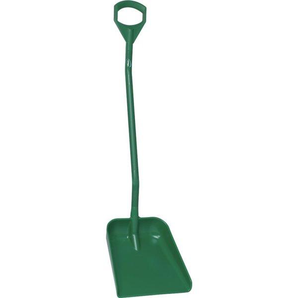 Vikan  ergonomische schop met groot blad, steel 1310 mm, groen,