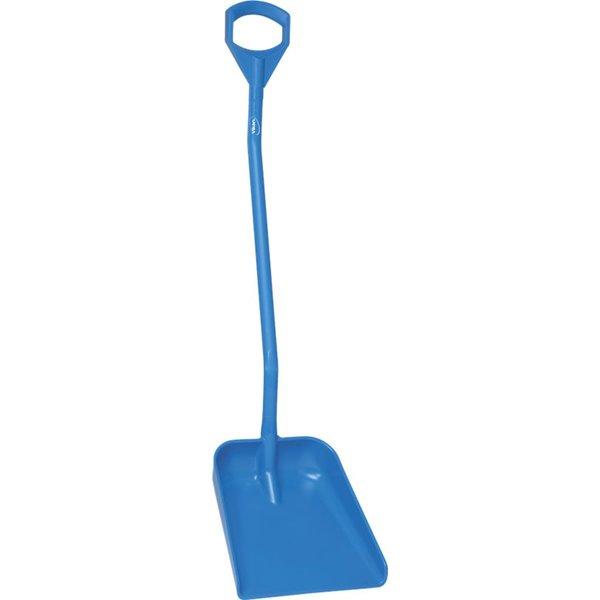 Vikan  ergonomische schop met groot blad, steel 1310 mm, blauw,