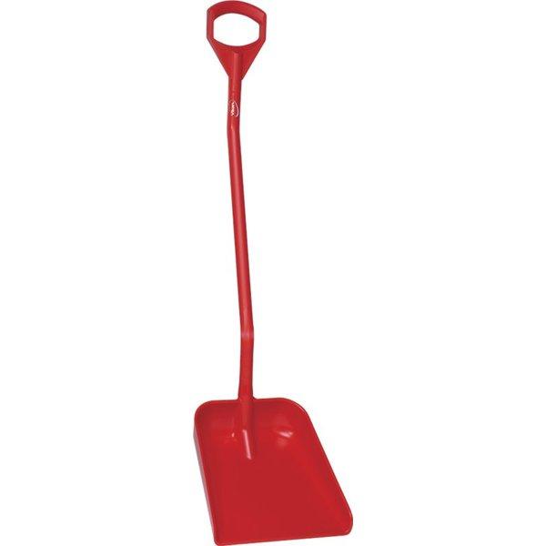 Vikan  ergonomische schop met groot blad, steel 1310 mm, rood,