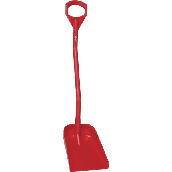 Vikan  ergonomische schop met klein blad, steel 1110 mm, rood,