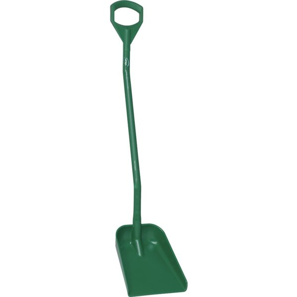 Vikan  ergonomische schop met klein blad, lange steel 1280 mm, groen,