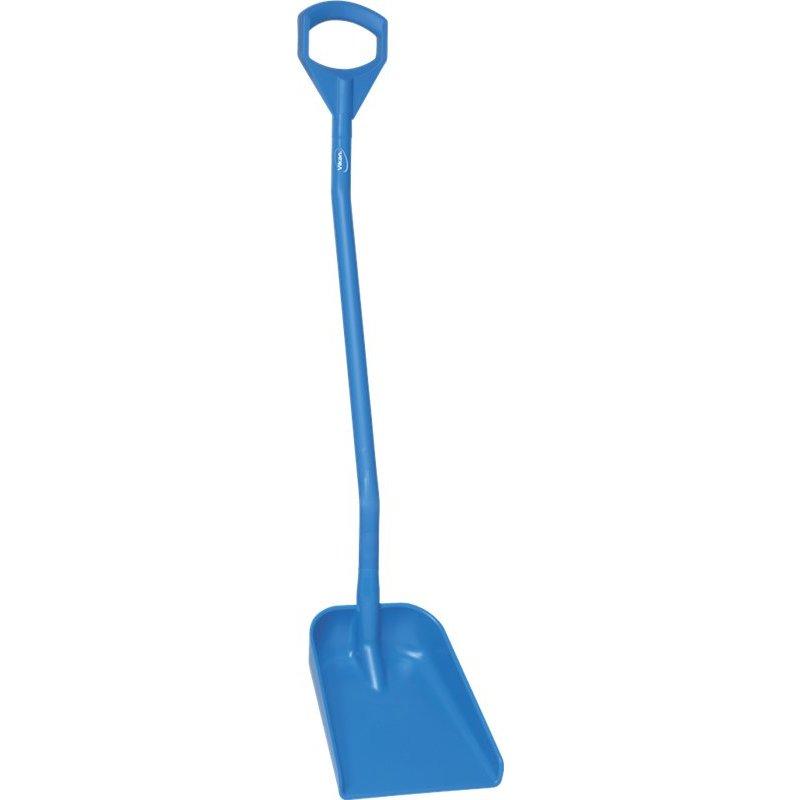 Vikan ergonomische schop met klein blad, lange steel, blauw,