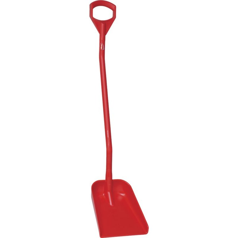 Vikan ergonomische schop met klein blad, lange steel, rood,