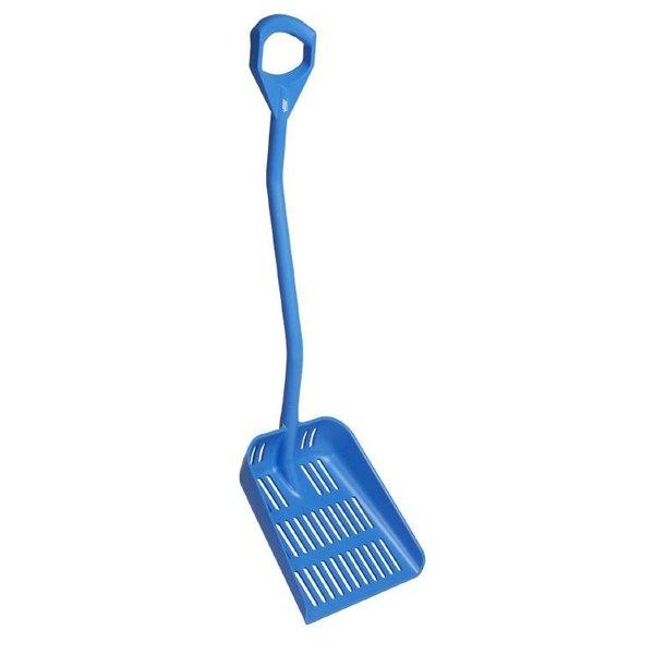 Vikan  ergonomische uitlekschep, steel 1145 mm, blauw,