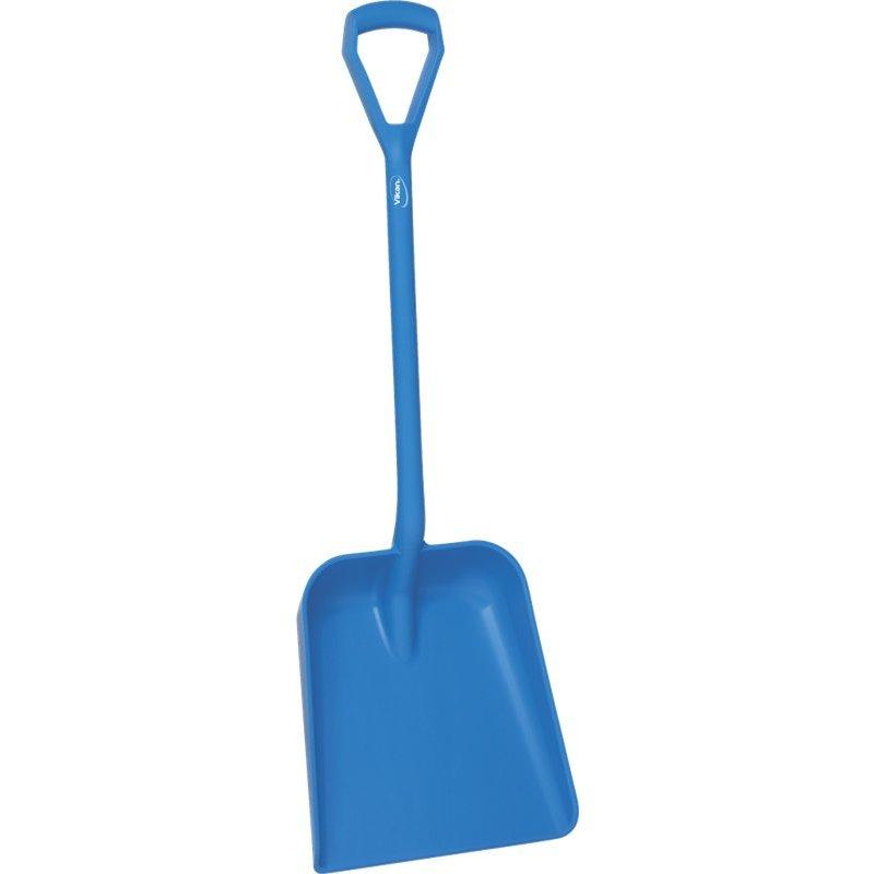 Vikan schop D-greep korte steel, blauw,