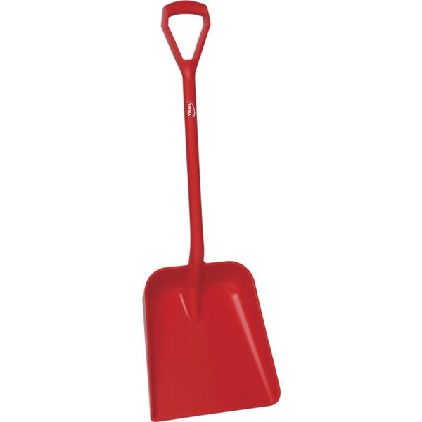 Vikan  schop D-greep korte steel, groot diep blad, rood,