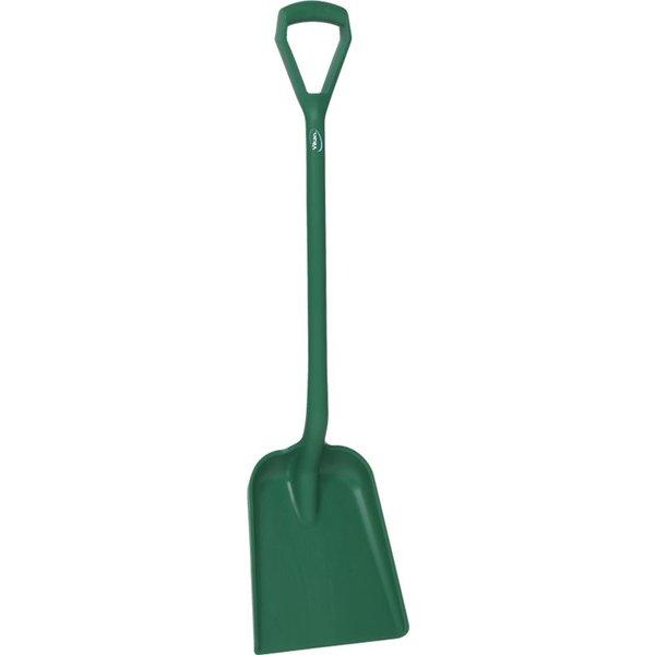 Vikan  schop D-greep korte steel, standaard blad, groen,