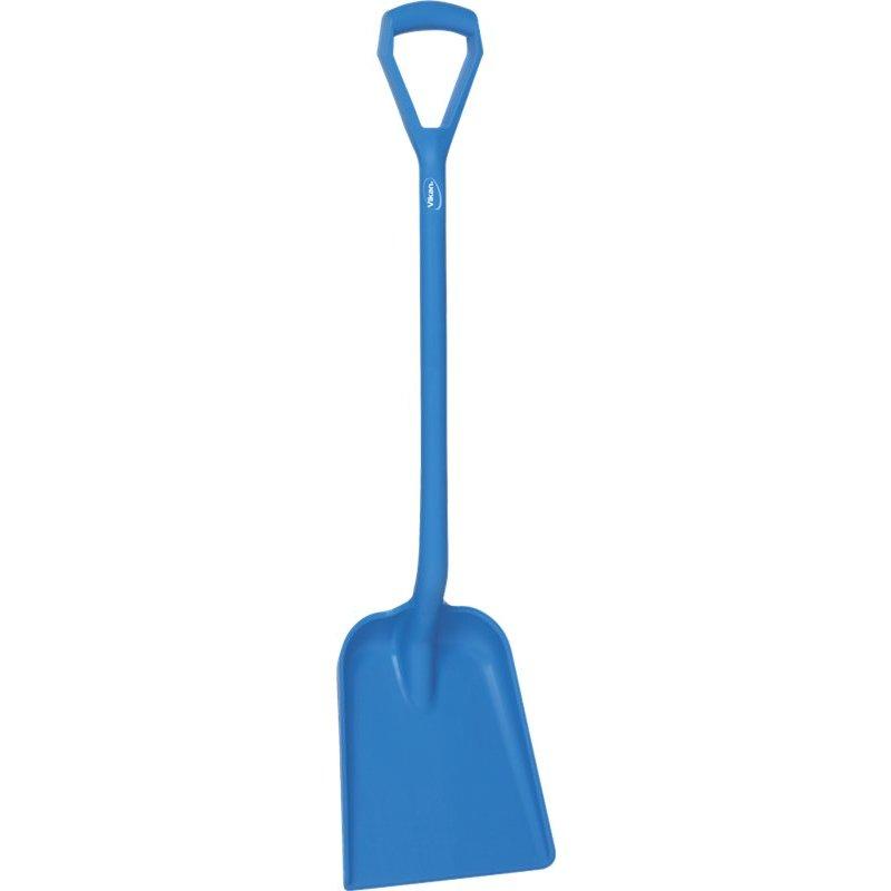 Vikan schop D-greep korte steel, standaard blad, blauw,