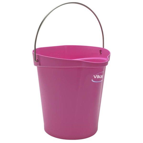 Vikan emmer, 12 liter, roze,