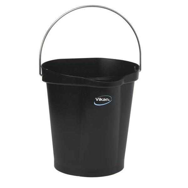 Vikan emmer, 12 liter, zwart,