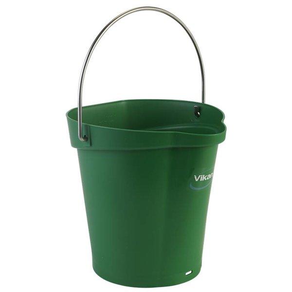 Vikan emmer, 6 liter, groen,