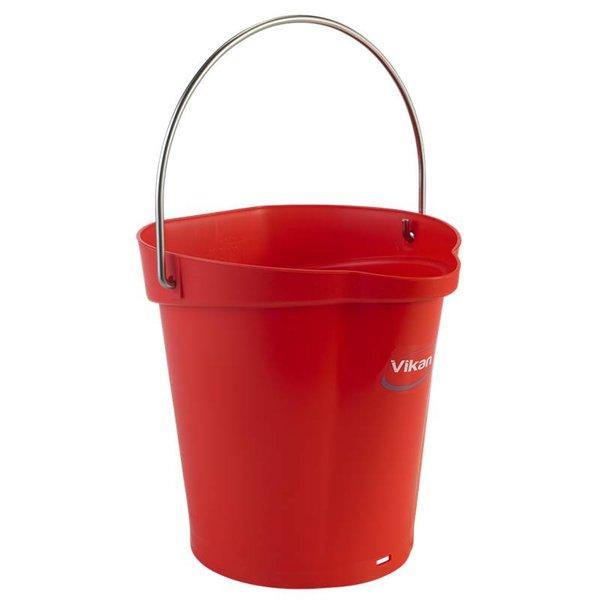 Vikan emmer, 6 liter, rood,