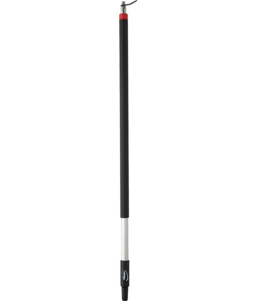 Vikan korte ergonomische telescopische steel met waterdoorvoer, slangpilaar,