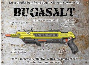 Bug a Salt de Vliegen schotgun. Bescherm jezelf, je eten, je familie tegen vliegen, spinnen en ander gespuis met deze unieke zout shotgun