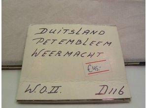 Duitsland oud 1940 - 1945 Pet Embleem W.O.2