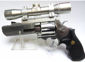 Smith & Wesson Groot Kaliber Revolver S&W Model 629-1 in 4 inc, Revolver + kijker
