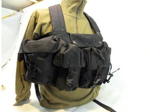 Chest rig Zwart Web-tex Klassiek systeem