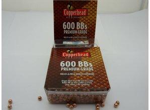 Copperhead 600bbs 4.4 kogel, koper kleur ,kermis kogel