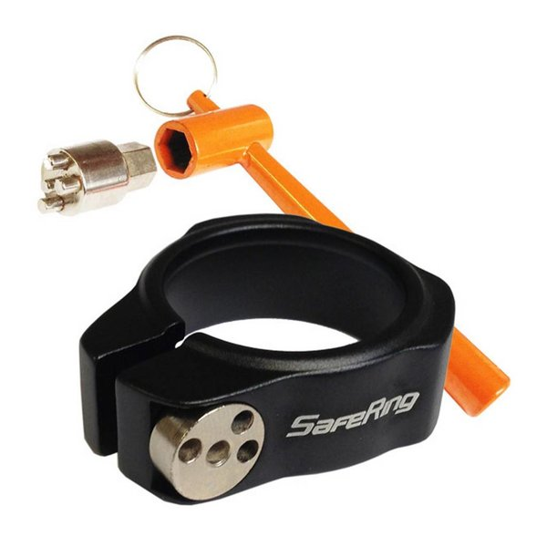SafeRing Anti Diefstal Zadelpen Slot Ring 28.6 mm Zwart