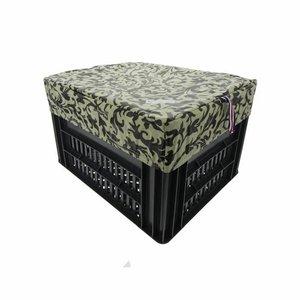 Hooodie Fietskrat Fietsmand Hoes Medium Decoration Black/White