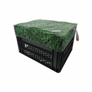 Hooodie Fietskrat Fietsmand Hoes Medium Grass