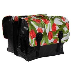 Beck Dubbele Fietstas Classic Tulips Red