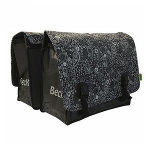 Beck Dubbele Fietstas Big Blackish Pattern