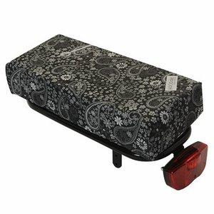 Hooodie Bagagedragerkussen BIG Cushie Black'ish Pattern